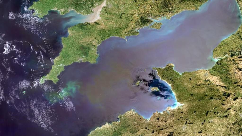 Kanál La Manche - pohled z vesmíru