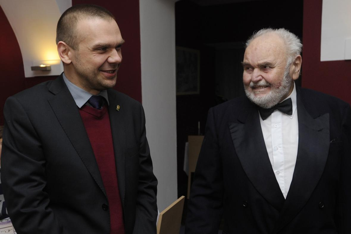 Primátor Martin Baxa a vnuk skladatele Antonín Dvořák