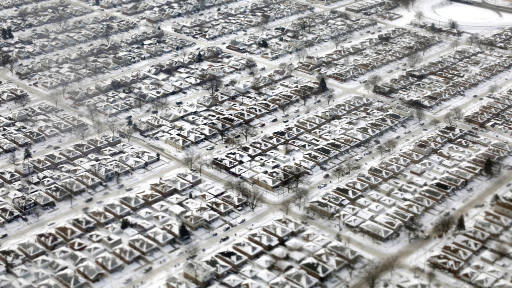"""Předměstí Chicaga - toho času známého jako """"Chiberia"""""""