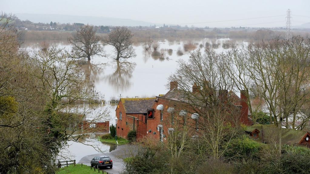 Řeka Severn u Glouchesteru
