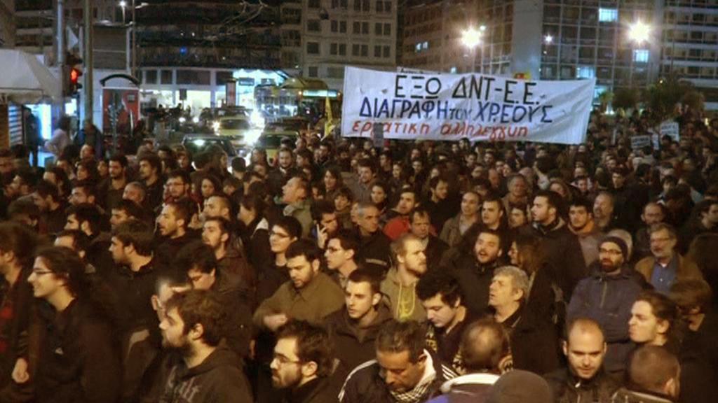 V Aténách se demonstrovalo proti EU