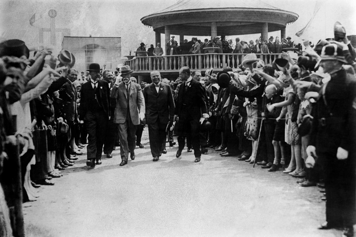 T. G. Masaryk na brněnském výstavišti (1928)