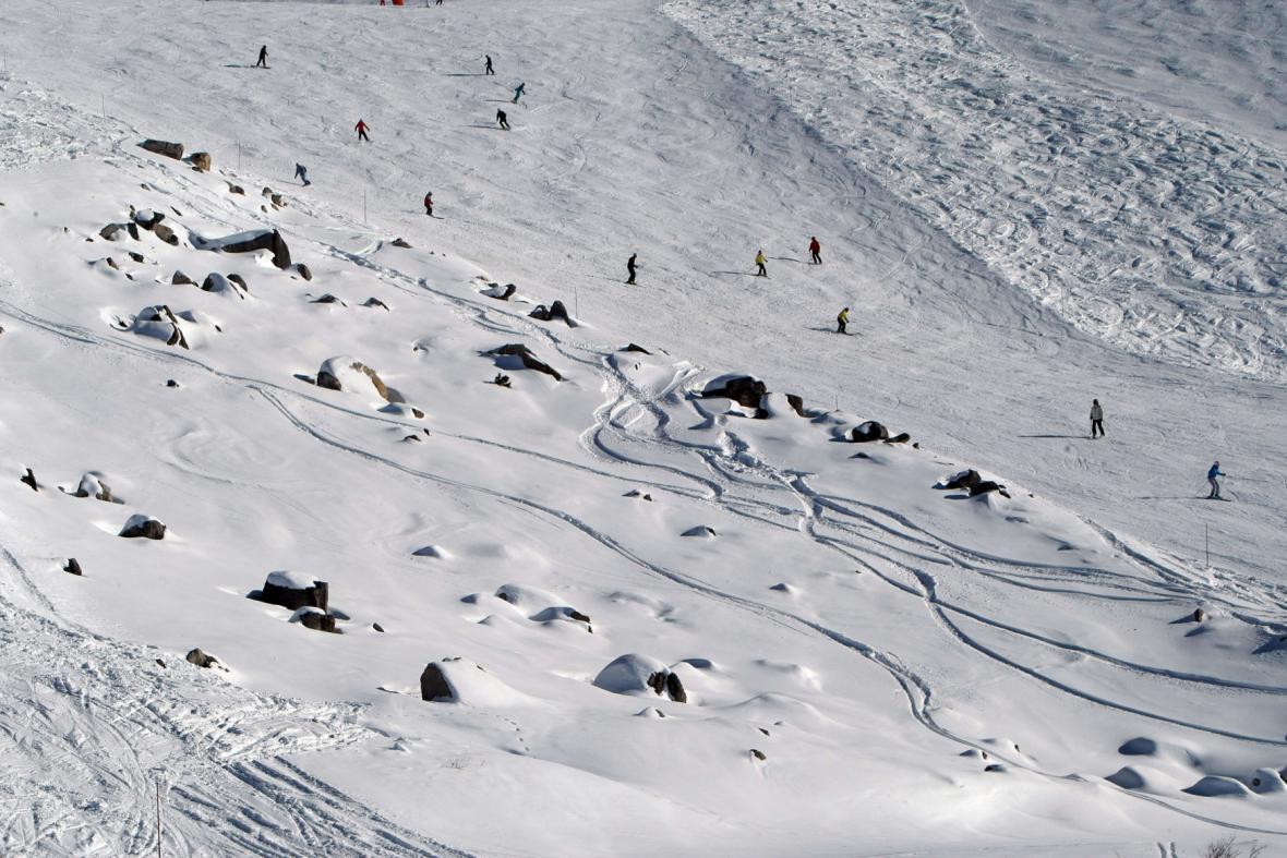 Ski areál v Meribel