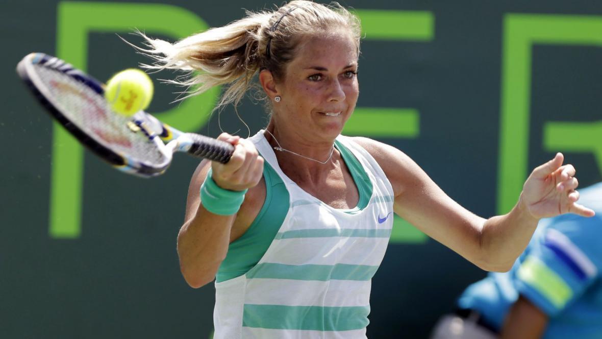 Klára Zakopalová na turnaji v Miami