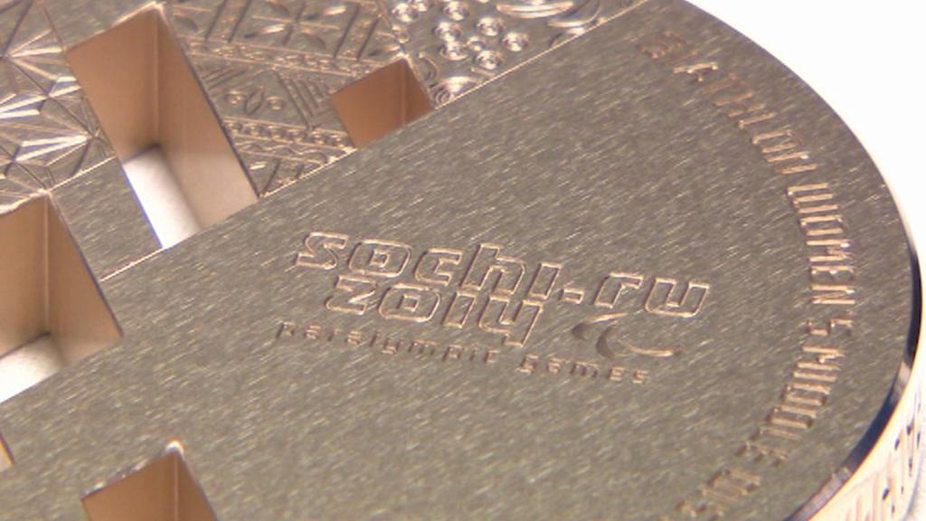 Detail bronzové medaile