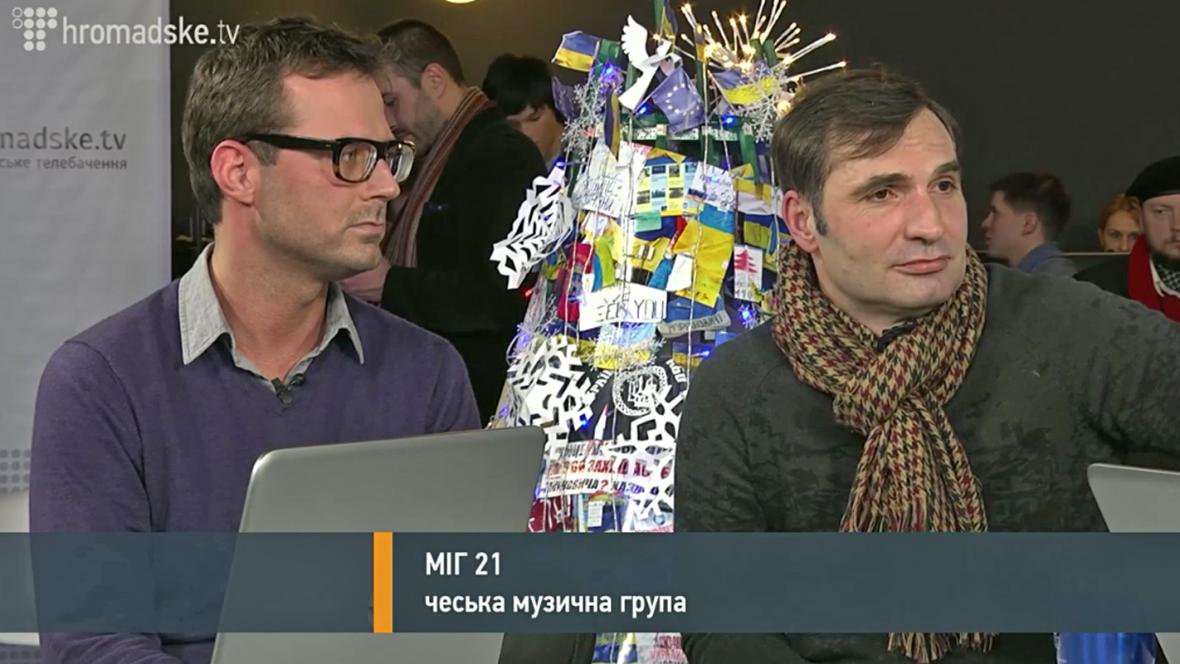 Mig 21 v ukrajinské televizi
