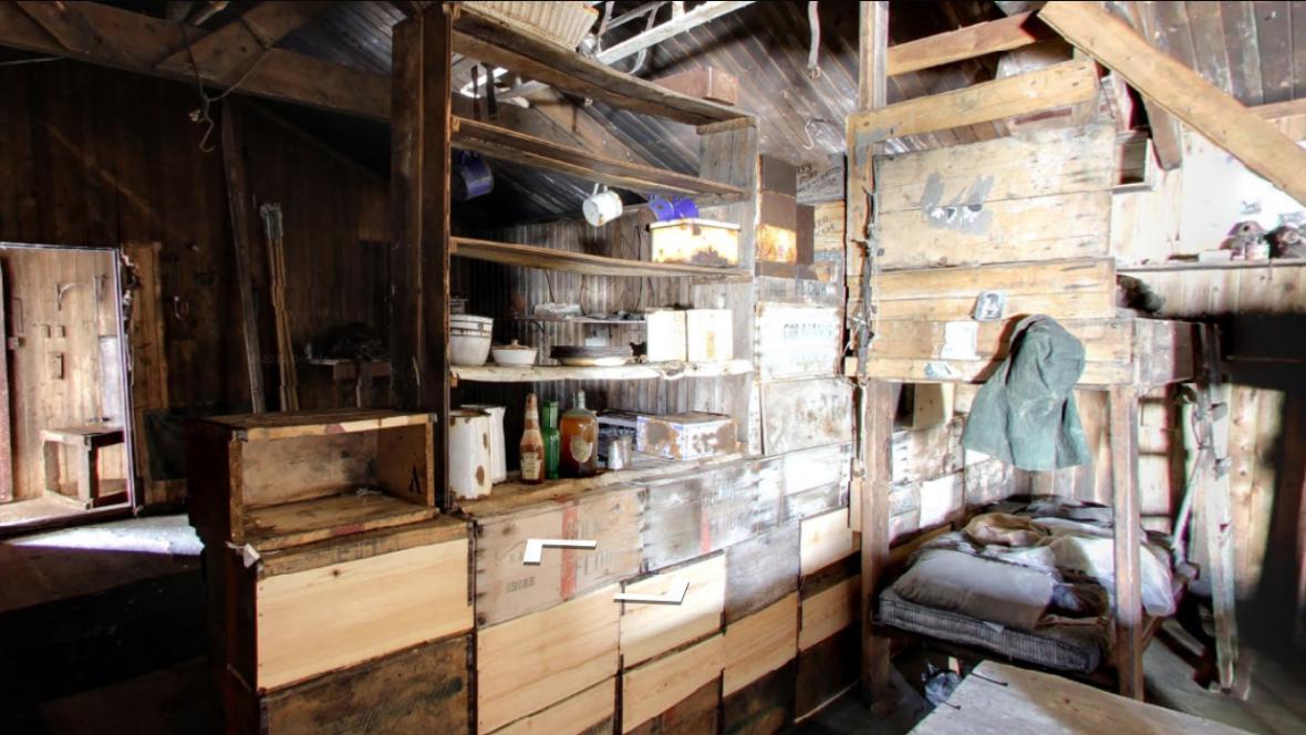 Scottova chata v Antarktidě