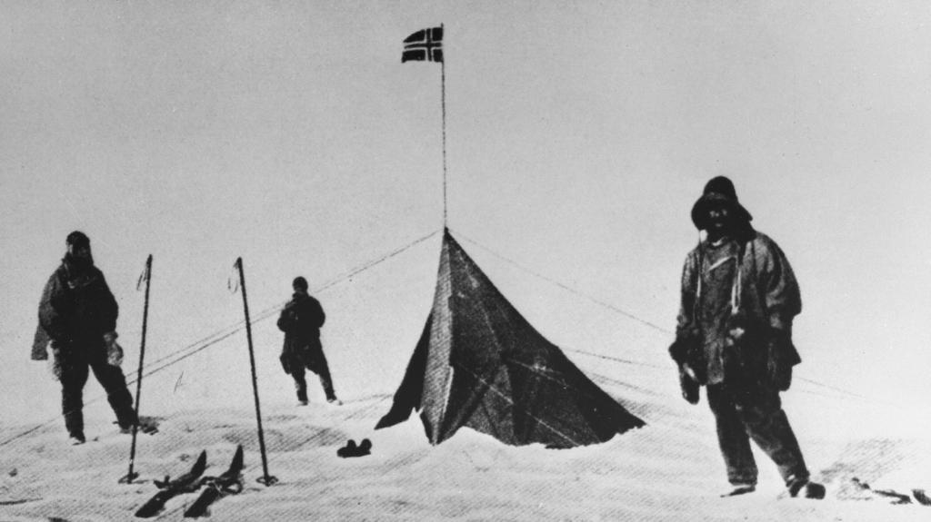 Členové Scottovy výpravy na jižním pólu nalezli Amundsenův stan