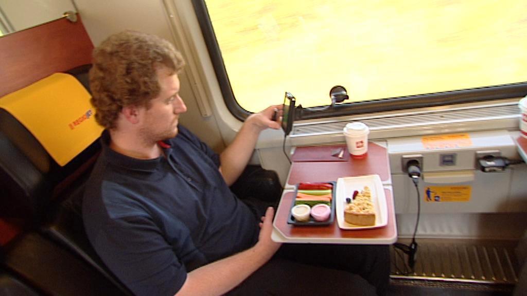 Cestující ve vlaku Regiojet