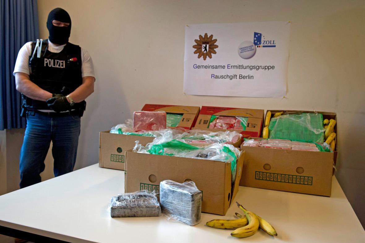 Kokain nalezený v dodávce banánů pro Aldi Nord