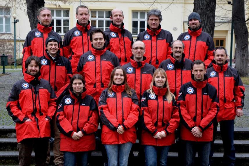 Členové polární expedice v roce 2014