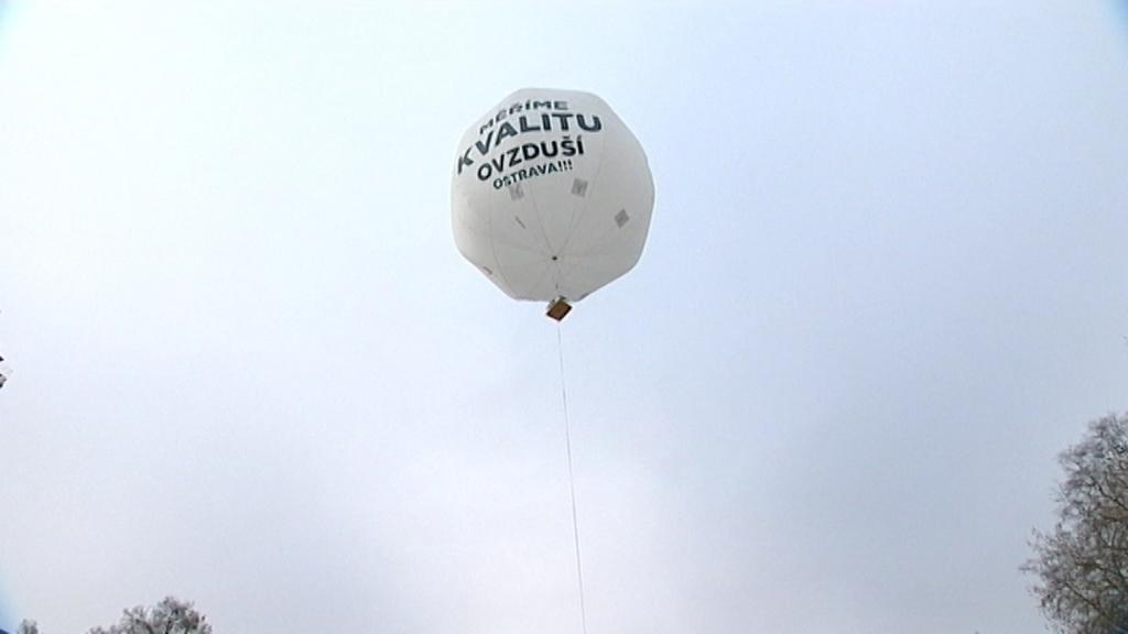 Balon měří kvalitu ovzduší