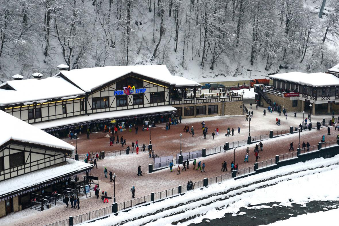 Soči -  lyžařské středisko Krasnaja Poljana