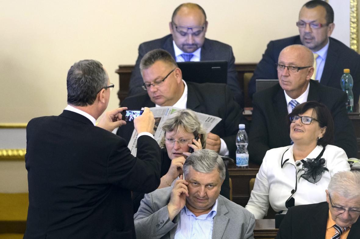 Poslanci ČSSD ve sněmovně