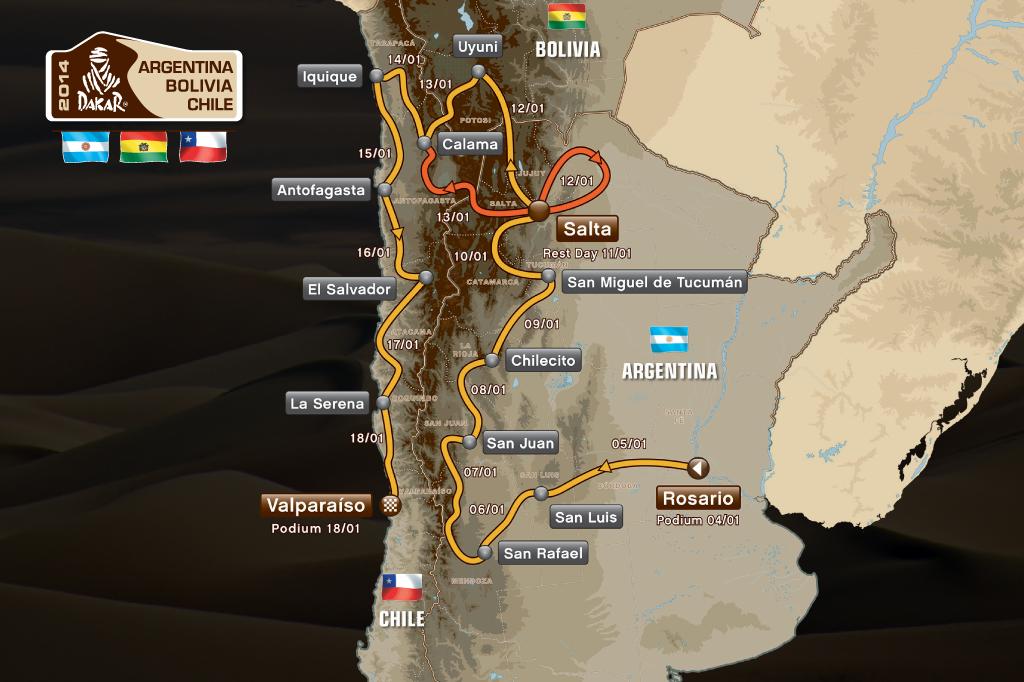Trasa Rallye Dakar