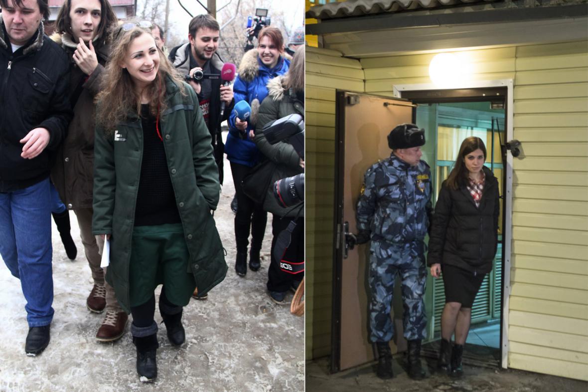Marija Aljochinová a Naděžda Tolokonnikovová jsou na svobodě
