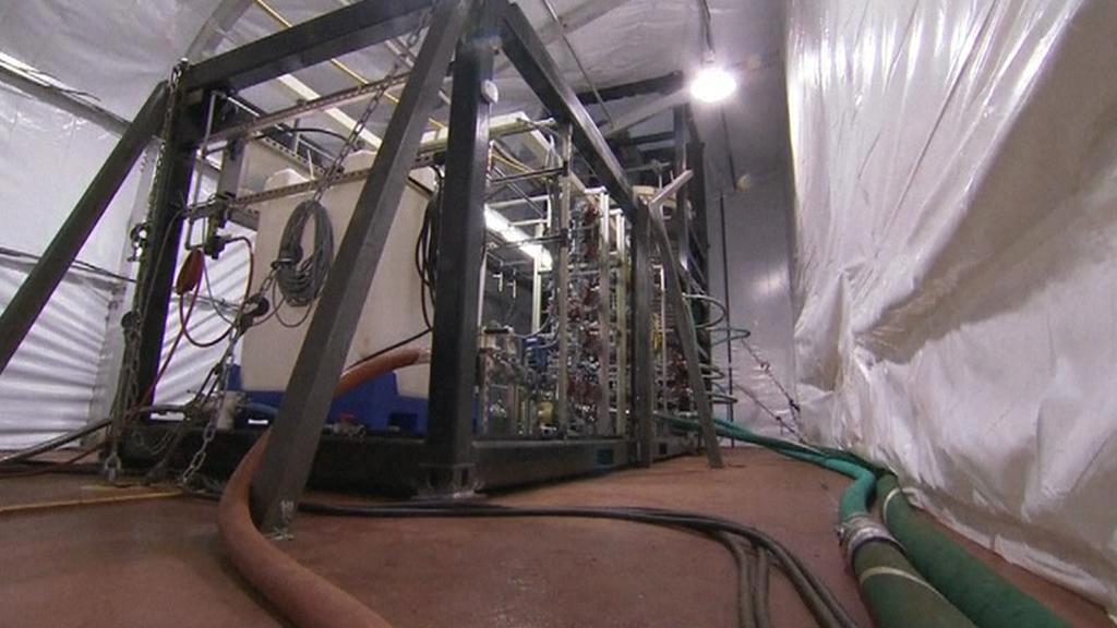 Americká plovoucí laboratoř pro zpracování bojových látek
