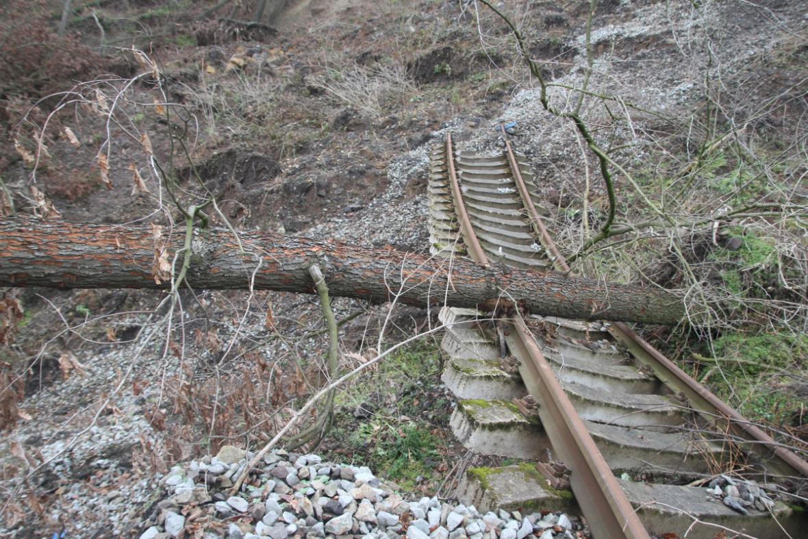 Zavalená železnice