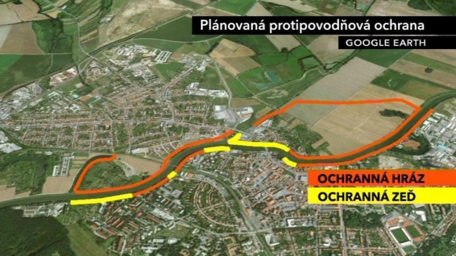Protipovodňová ochrana Uherského Hradiště