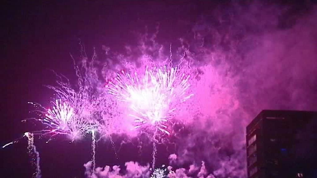 Novoroční ohňostroj v Ostravě-Hrabůvce