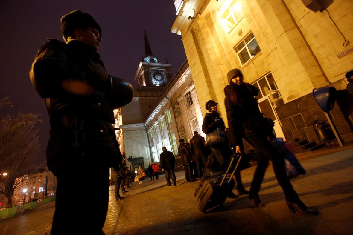 Policie hlídá okolí výbuchu ve Volgogradu