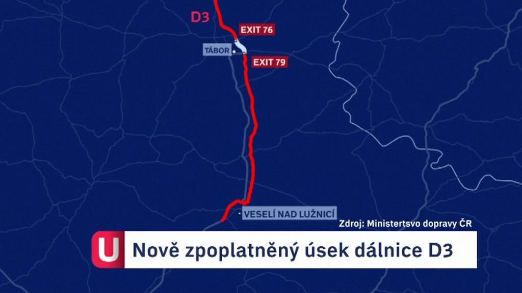 Zpoplatněný úsek dálnice D3