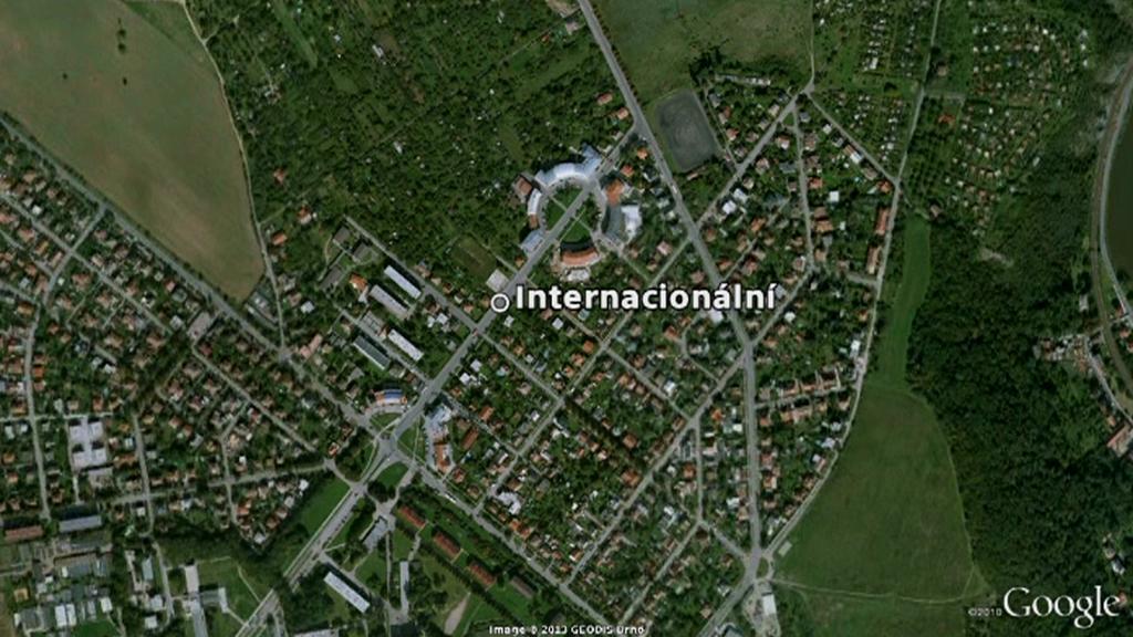 Místo, kde k výbuchu došlo