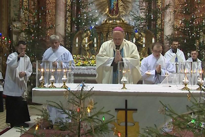 Novoroční mši celebroval olomoucký arcibiskup Jan Graubner