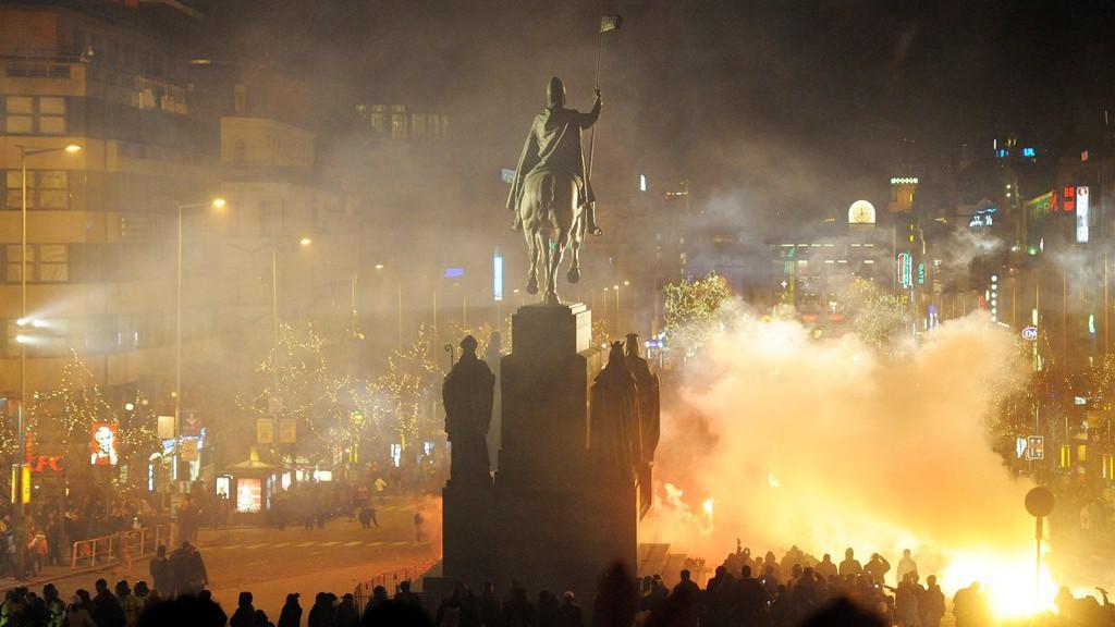 Silvestr na Václavském náměstí