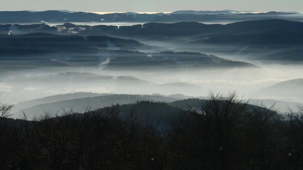 Pohled z Radhoště na Javorníky
