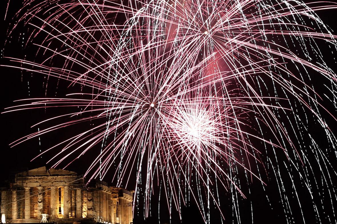 Oslavy nového roku v Aténách