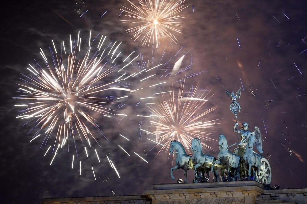 Oslavy nového roku v Berlíně