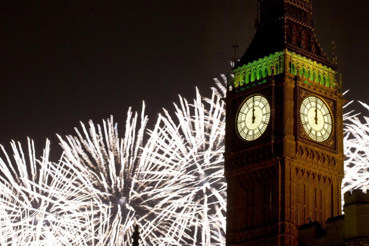 Oslavy nového roku v Londýně