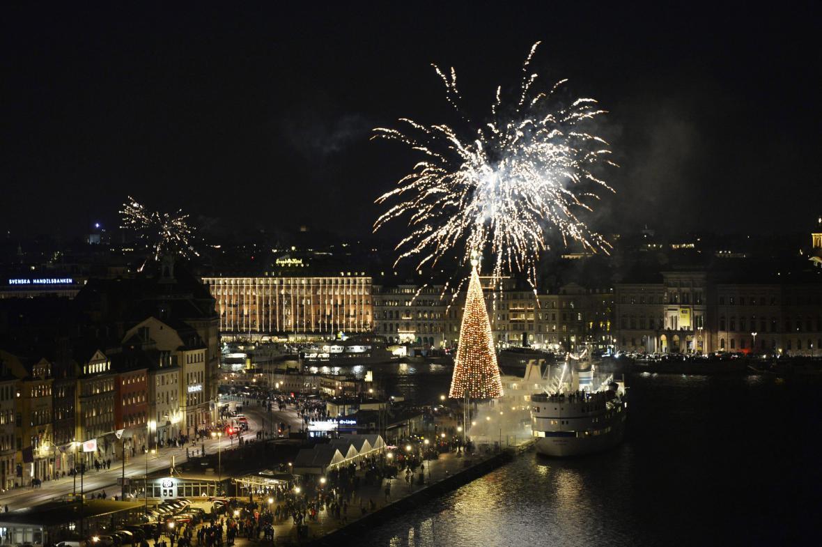 Oslavy nového roku ve Stockholmu
