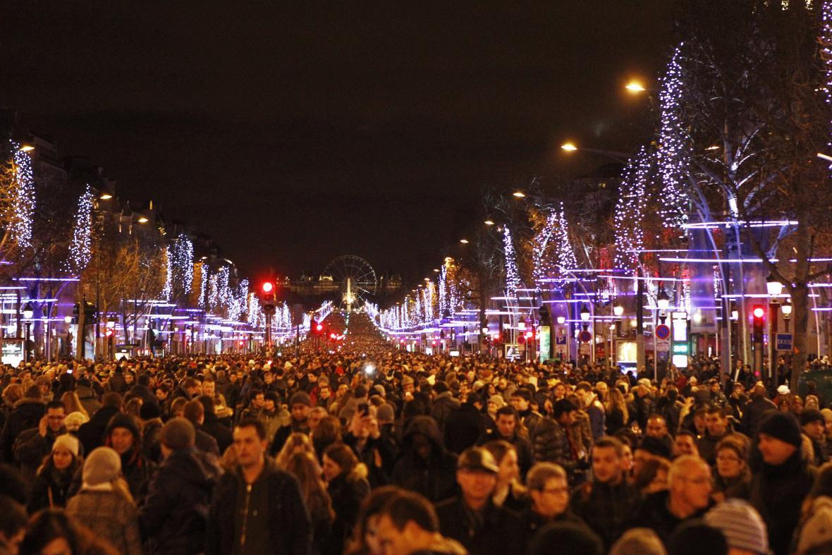 Čekání na nový rok v Paříži