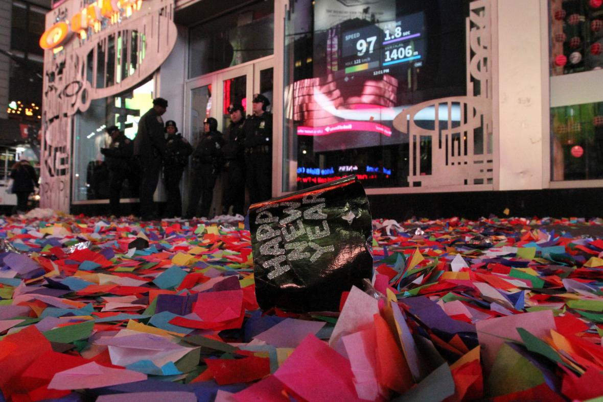 Konfety na Times Square