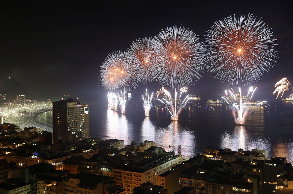 Oslavy nového roku v Rio de Janeiru