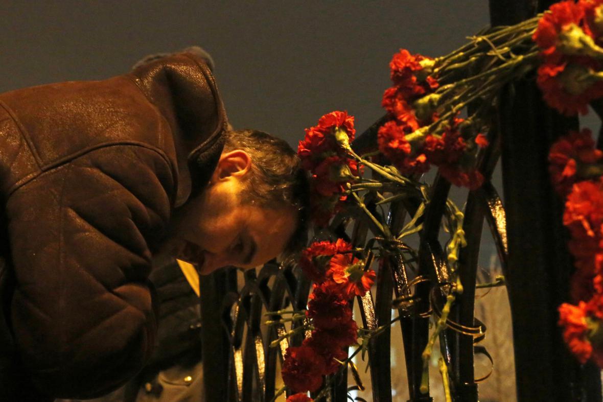 Vzpomínka na oběti atentátů ve Volgogradu