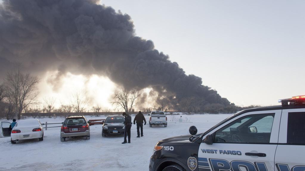 Výbuch vlaku převážejícího ropu