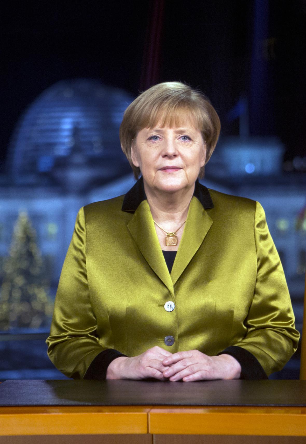 Angela Merkelová při novoročním projevu