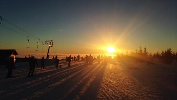 Západ slunce na Medvědíně