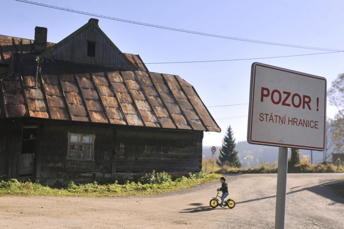 Osada Konečná na česko-slovenské hranici