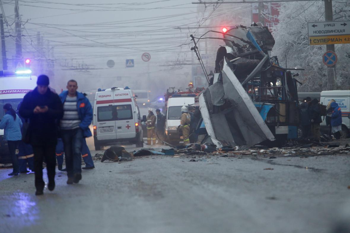 Výbuch trolejbusu ve Volgogradu