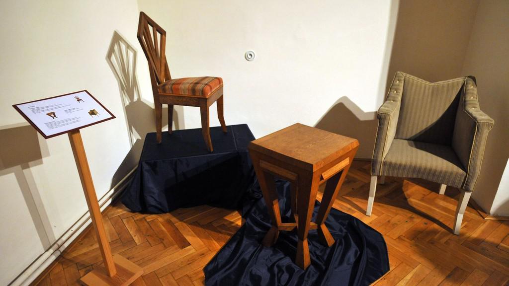 Židle navržené Josipem Plečnikem