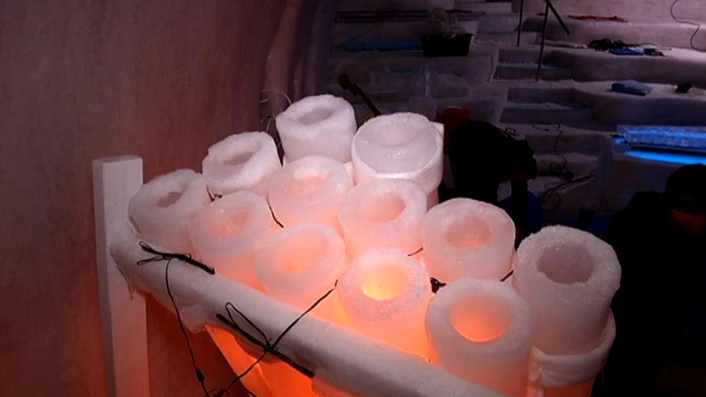 Hudební nástroj z ledu