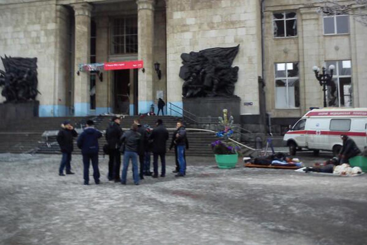 Výbuch na nádraží ve Volgogradu