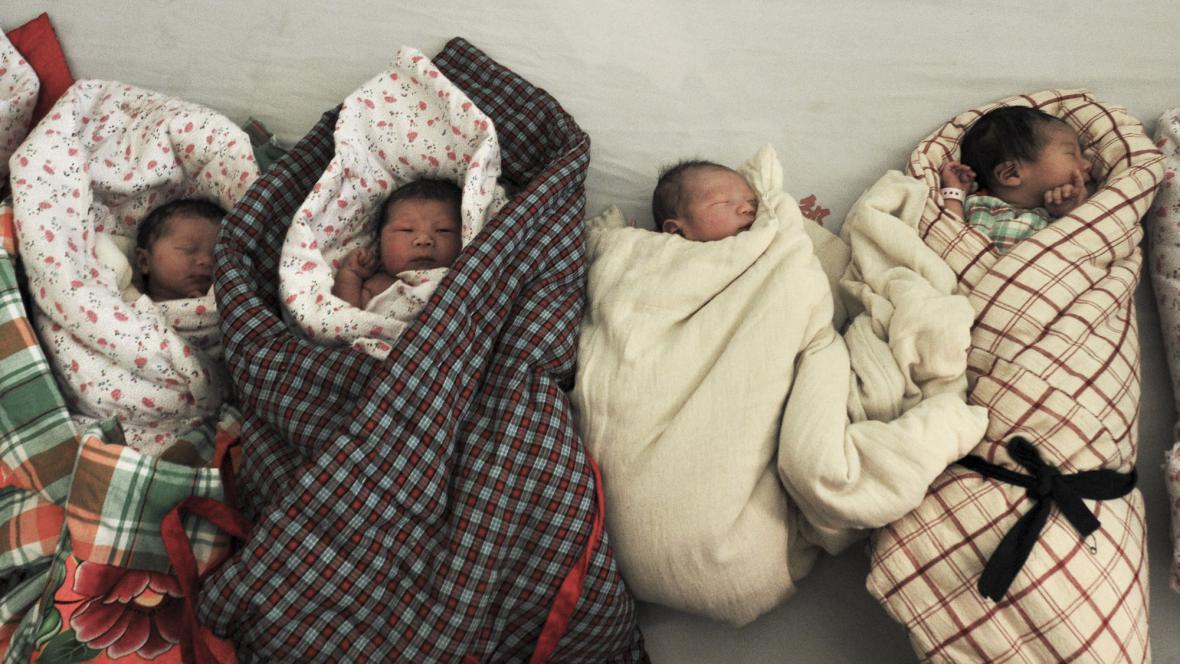 Novorozenci v Číně