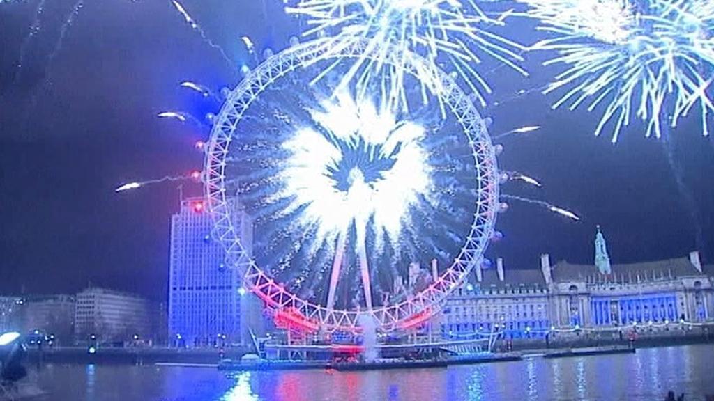 Londýnské oko v silvestrovské