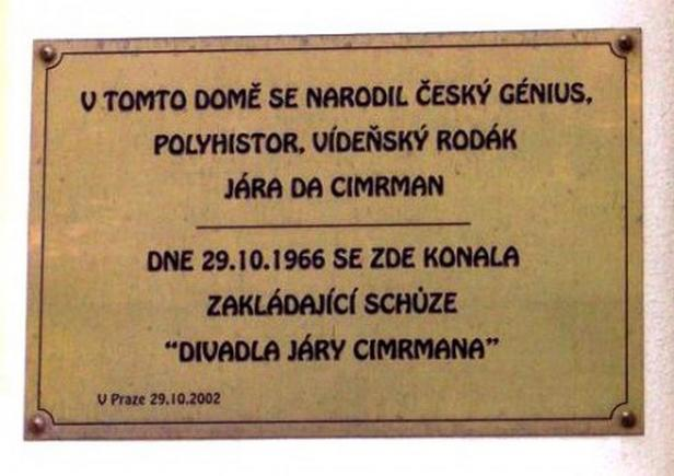Zmizelá pamětní deska v Dykově ulici