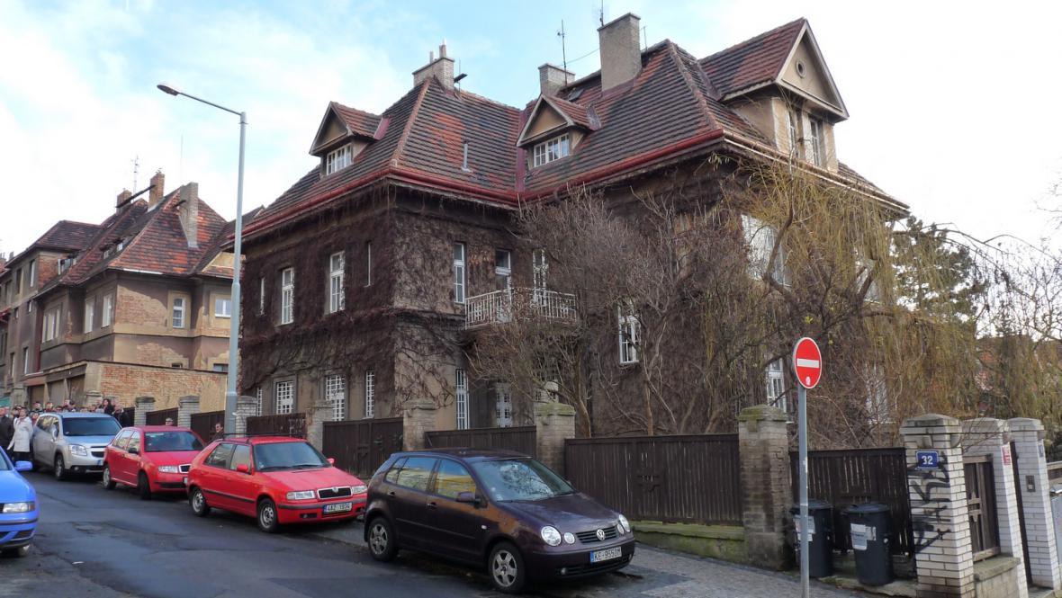Hradešínská ulice - vila architekta Františka Alberta Libry